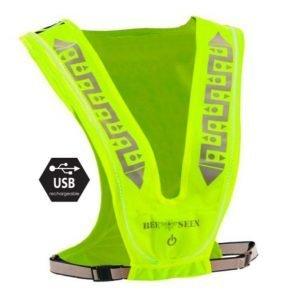 Bee-Safe-Led-Vest-Usb-fluor-geel-NonStop-Running
