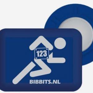 Bibbits-startnummermagneetjes-Hardlloper-blauw-NonStop-Running