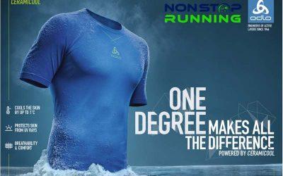 Verkoel je lichaam met 1 graden tijdens het hardlopen met Odlo Ceramicool