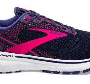 Brooks-Ghost-14-women-Peacoat-Pink-white-zijkant-NonStop-Running
